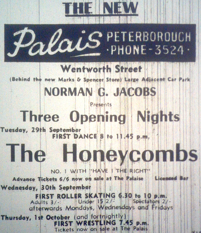 Opening night bill from 29th September 1964