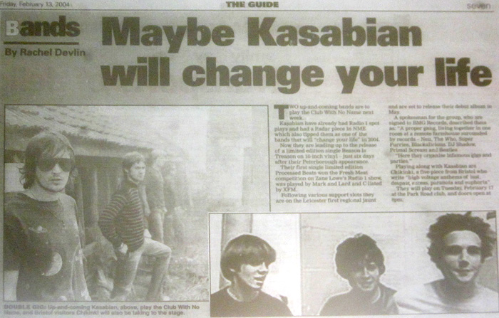 Newspaper feature 13/09/04